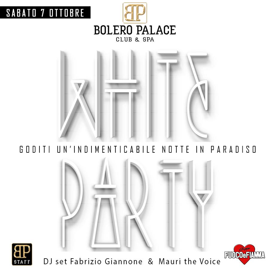 """WHITE PARTY """"Sabato 7 Ottobre 2017"""""""